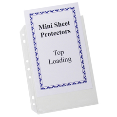 CLI03758BNDL4PK - C-Line ProductsHeavyweight Mini Size Top Loading Poly Sheet Protectors, 5 1/2 x 8 1/2