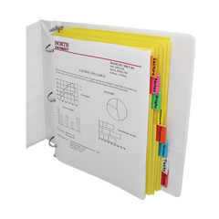 CLI05380BNDL18PK - C-Line Products - 8-Tab Paper Index Dividers, Assorted Color Tabs
