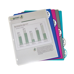 CLI05450BNDL12PK - C-Line ProductsBiodegradable 5-Tab Poly Binder Index Dividers, Assorted