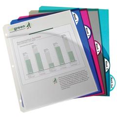 CLI05460BNDL6PK - C-Line ProductsBiodegradable 5-Tab Poly Binder Index Dividers w/Slant Pockets, Assorted