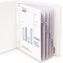 CLI05557BNDL6ST - C-Line ProductsPolypropylene Sheet Protectors w/Index Tabs, Clear Tabs, 11 x 8 1/2