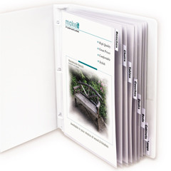 CLI05587BNDL3ST - C-Line ProductsPolypropylene Sheet Protectors w/Index Tabs, Clear Tabs, 11 x 8 1/2