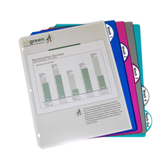 CLI05730BNDL12ST - C-Line Products5-Tab Poly Binder Index Dividers, Assorted