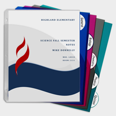 CLI05750BNDL12ST - C-Line Products5-Tab Poly Binder Index Dividers w/Slant Pockets, Assorted