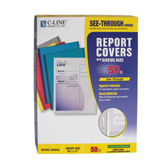 CLI32553 - C-Line Products - Vinyl Report Covers w/Binding Bars, Green, Matching Binding Bars, 11 x 8 1/2