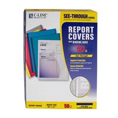 CLI32555 - C-Line Products - Vinyl Report Covers w/Binding Bars, Blue, Matching Binding Bars, 11 x 8 1/2