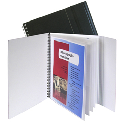 CLI32881BNDL2EA - C-Line Products8-Pocket Portfolio w/Security Flap