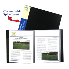 CLI33120BNDL6EA - C-Line Products12-Pocket Bound Sheet Protectors Presentation Book, Black