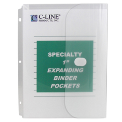 CLI33747 - C-Line ProductsBiodegradable Binder Pocket, Clear