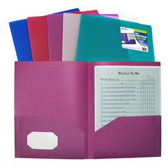 CLI33900BNDL18EA - C-Line Products2-Pocket Heavyweight Poly Portfolio Folder, Jewel Tone Colors