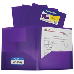 CLI33959BNDL18EA - C-Line Products - 2-Pocket Heavyweight Poly Portfolio Folder, Purple