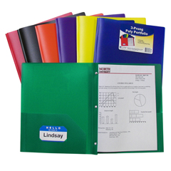 CLI33960BNDL12EA - C-Line Products - 2-Pocket Heavyweight Poly Portfolio Folder w/Prongs