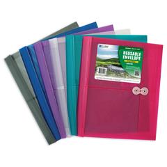 CLI35010BNDL24EA - C-Line ProductsBiodegradable Reusable Poly Envelope w/String Closure, Side Load