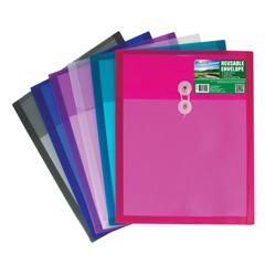 CLI35020BNDL24EA - C-Line ProductsBiodegradable Reusable Poly Envelope w/String Closure, Top Load