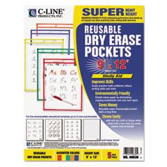 CLI40630 - C-Line® Reusable Dry Erase Pockets