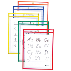CLI40630BNDL2PK - C-Line ProductsReusable Dry Erase Pockets, Assorted Primary Colors, 9 x 12