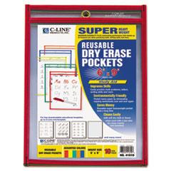 CLI41610 - C-Line® Reusable Dry Erase Pockets