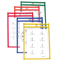 CLI41610BNDL2PK - C-Line ProductsReusable Dry Erase Pockets, Assorted Primary Colors, 6 x 9
