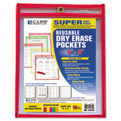 CLI41810 - C-Line® Reusable Dry Erase Pockets