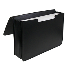 CLI48011BNDL2EA - C-Line Products - Poly Expanding Document Case, Legal Size, Black