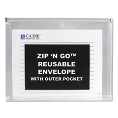 CLI48117 - C-Line Products C-Line® Letter Size Zip N Go™ Reusable Envelope with Outer Pocket