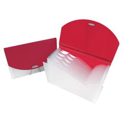 CLI48204BNDL3EA - C-Line ProductsExpanding File w/Designer V-Cut, Pink