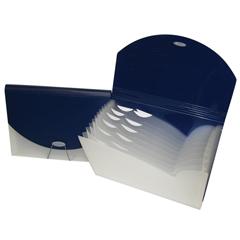 CLI48205BNDL3EA - C-Line ProductsExpanding File w/Designer V-Cut, Blue
