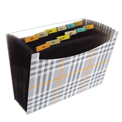 CLI48212BNDL3EA - C-Line Products13-Pocket Expanding File, Plaid