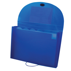 CLI48305BNDL4EA - C-Line ProductsBiodegradable 7-Pocket Letter Size Expanding File, Blue