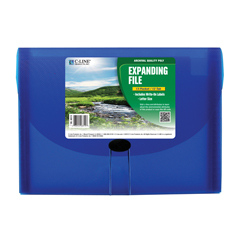 CLI48315BNDL3EA - C-Line ProductsBiodegradable 13-Pocket Letter Size Expanding File, Blue