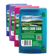 CLI48335BNDL24EA - C-Line ProductsBiodegradable 3 x 5 Index Card Case