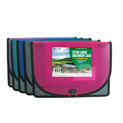 CLI48350BNDL6EA - C-Line Products - Biodegradable Extra Large Document Case
