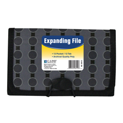 CLI56412BNDL6EA - C-Line Products13-Pocket Coupon Size Expanding File, Fashion Circle Series