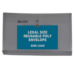 CLI58041BNDL3PK - C-Line ProductsReusable Poly Envelope w/String Closure, Side Load, Legal Size