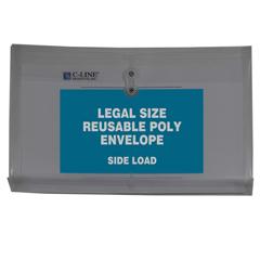 CLI58041BNDL3PK - C-Line ProductsReusable Poly Envelope w/String Closure, Side Load, Legal Size
