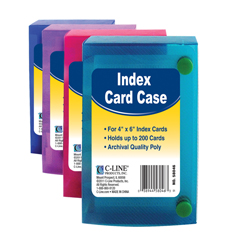 CLI58046BNDL12EA - C-Line Products4 x 6 Index Card Case, Assorted