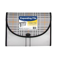 CLI58312BNDL3EA - C-Line Products - 13-Pocket Letter Size Expanding File, Plaid