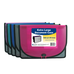 CLI58350BNDL5EA - C-Line ProductsExtra Large Document Case, Stitched