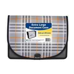 CLI58512BNDL4EA - C-Line ProductsExtra Large Document Case, Plaid