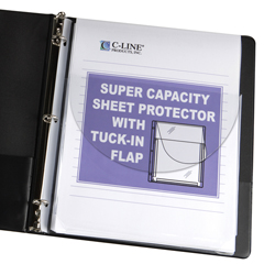 CLI61027BNDL2PK - C-Line ProductsSuper Capacity Sheet Protectors w/Tuck-In Flap, 11 x 8 1/2