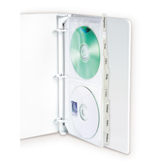 CLI61918BNDL3PK - C-Line ProductsDeluxe CD Ring Binder Storage, Standard w/Index Tabs, Stores 4 CDs