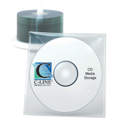 CLI61928BNDL5PK - C-Line ProductsIndividual CD/DVD Holders, Clear
