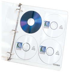 CLI61948BNDL5PK - C-Line ProductsDeluxe CD Ring Binder Storage Pages, Standard, Stores 8 CDs