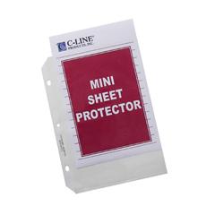 CLI62058BNDL2BX - C-Line ProductsMini Heavyweight Polypropylene Sheet Protectors, Clear, 8 1/2 x 5 1/2