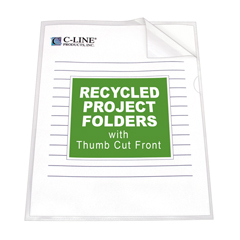 CLI62127BNDL3BX - C-Line ProductsRecycled Project Folders, Clear - Reduced Glare