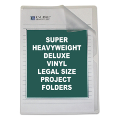 CLI62139 - C-Line ProductsDeluxe Non-Glare Vinyl Project Folders, Legal Size