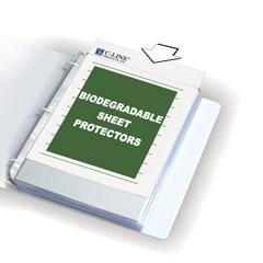 CLI62607BNDL2BX - C-Line ProductsBiodegradable Sheet Protectors, Clear, Polypropylene, 11 x 8 1/2