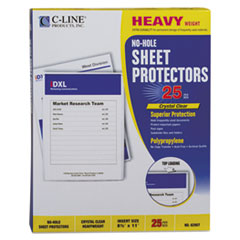 CLI62907 - C-Line® No-Hole Polypropylene Sheet Protector