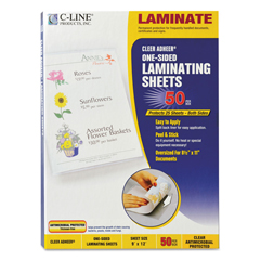 CLI65009 - C-Line ProductsCleer Adheer Laminating Film w/Antimicrobial Protection, 9 x 12
