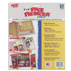CLI66047BNDL2PK - C-Line ProductsMemory Book 8 x 8 Scrapbook Page Protectors Combo Kit